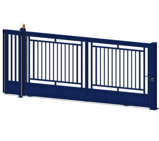 Puertas correderas medina barrotes azul