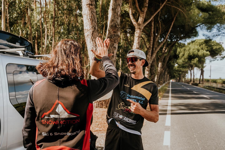 La voluntad indomable de Ángel Marín se adentra en tierras portuguesas